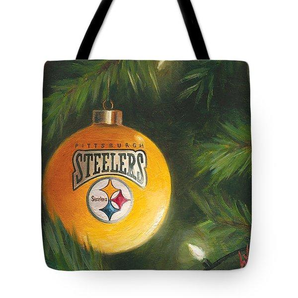 Steelers Ornament Tote Bag