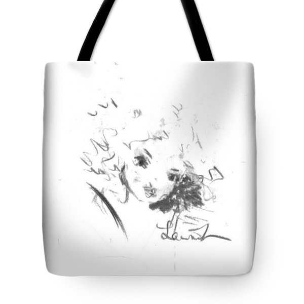 Tote Bag featuring the drawing Just Country by Laurie Lundquist