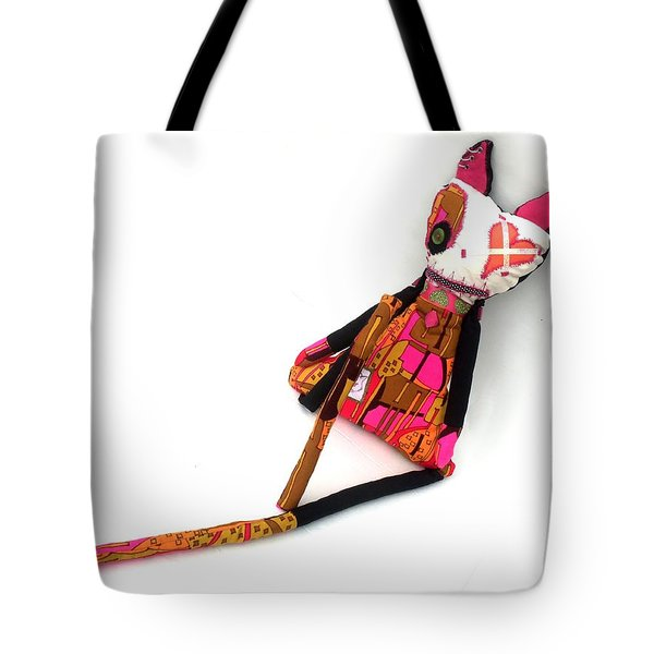 Stella The 70's Sex Kitten Tote Bag by Oddball Art Co by Lizzy Love