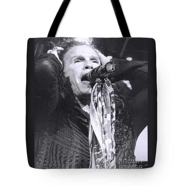 Tote Bag featuring the photograph Steven Tyler Rocks It by Traci Cottingham