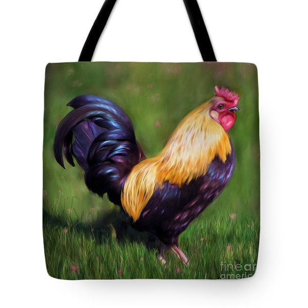 Stewart The Bantam Rooster Tote Bag by Michelle Wrighton