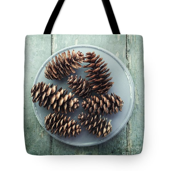 Stil Life With  Seven Pine Cones Tote Bag