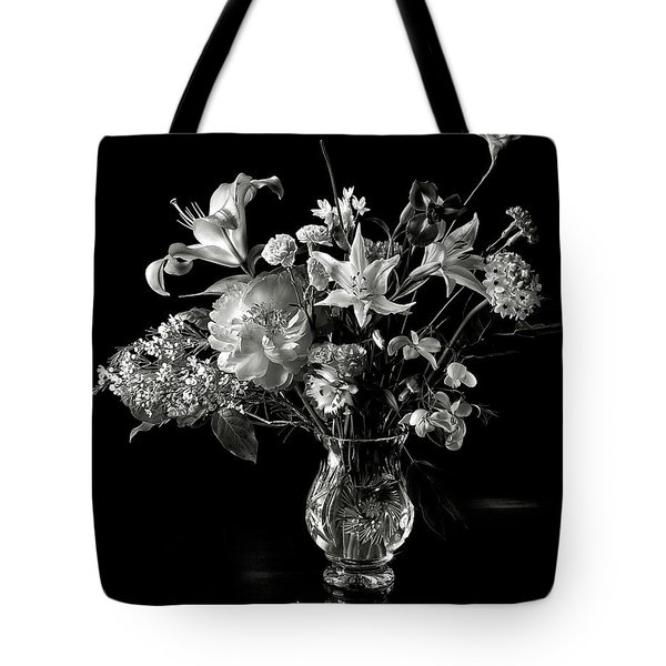 Still Life In Black And White Tote Bag