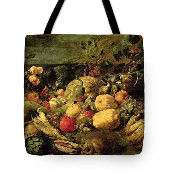 Still Life Of Fruits And Vegetables Tote Bag by Frans Snyders