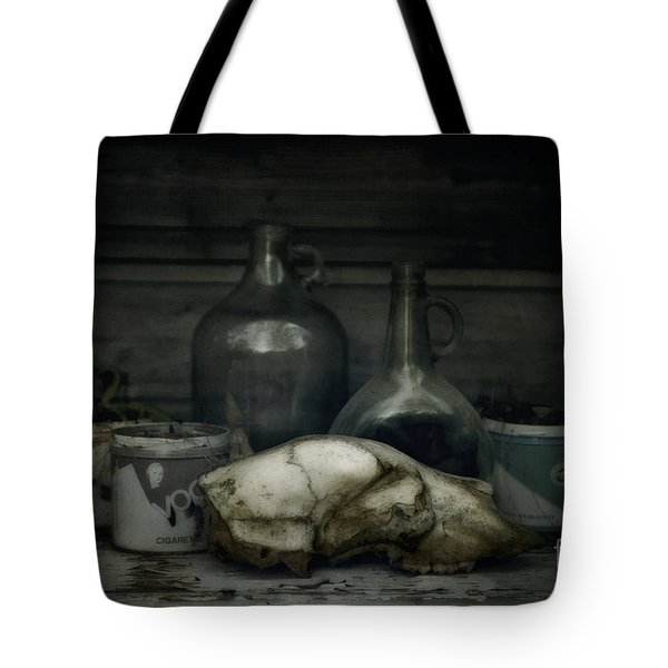 Still Life With Bear Skull Tote Bag by Priska Wettstein