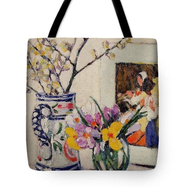 Still Life With Flowers In A Vase   Tote Bag by Rowley Leggett