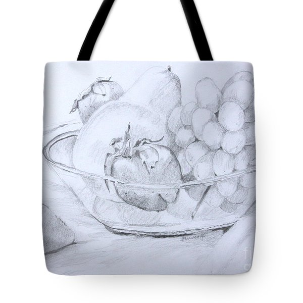 Still Life With Fruit Tote Bag by Jan Bennicoff