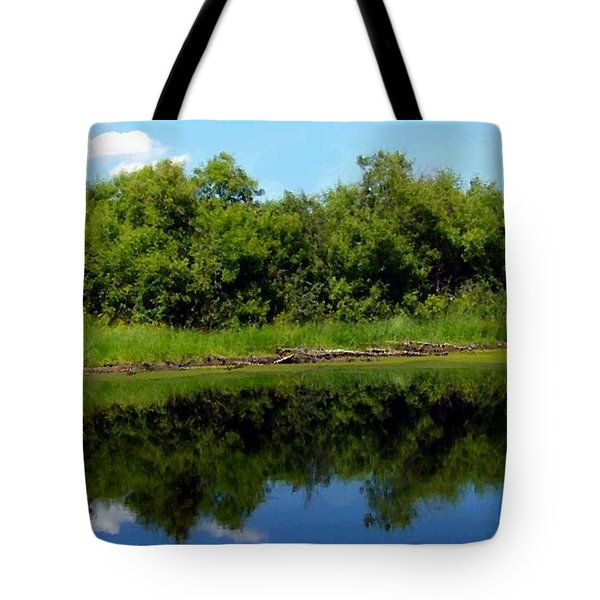 Tote Bag featuring the photograph Still Water by Jim Sauchyn