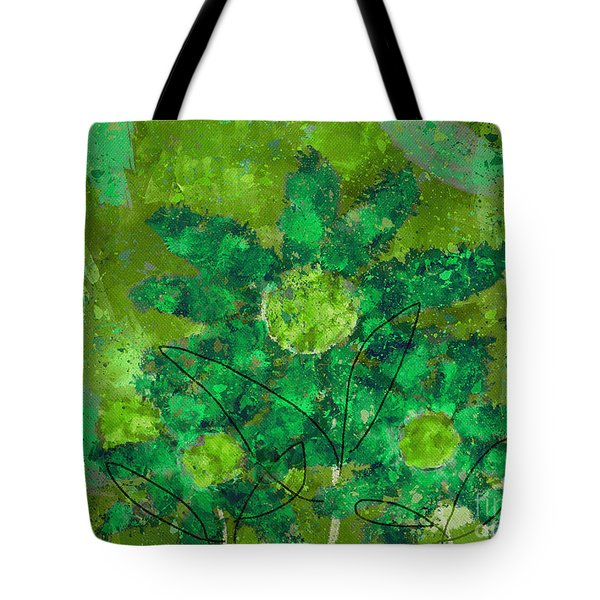 Stimuli Floral -s11bt01 Tote Bag by Variance Collections