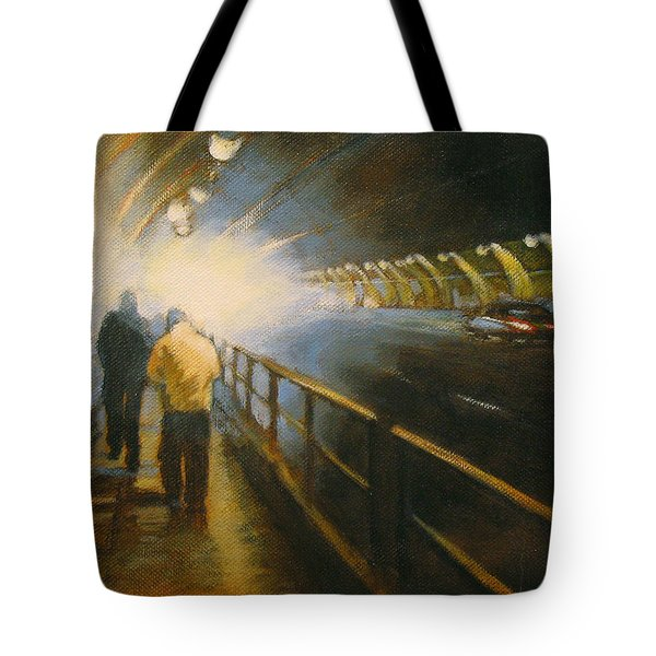 Stockton Tunnel Tote Bag by Meg Biddle