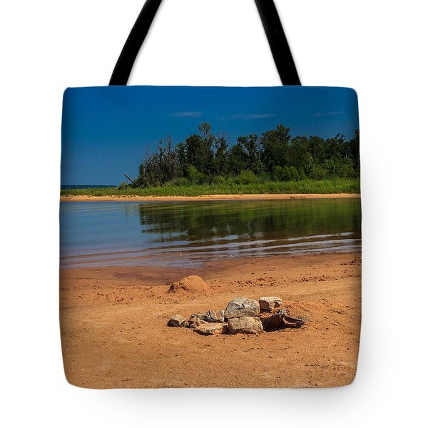 Stones On The Beach Tote Bag by Doug Long