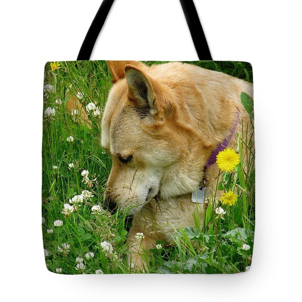 Stop And Smell The Clover Tote Bag