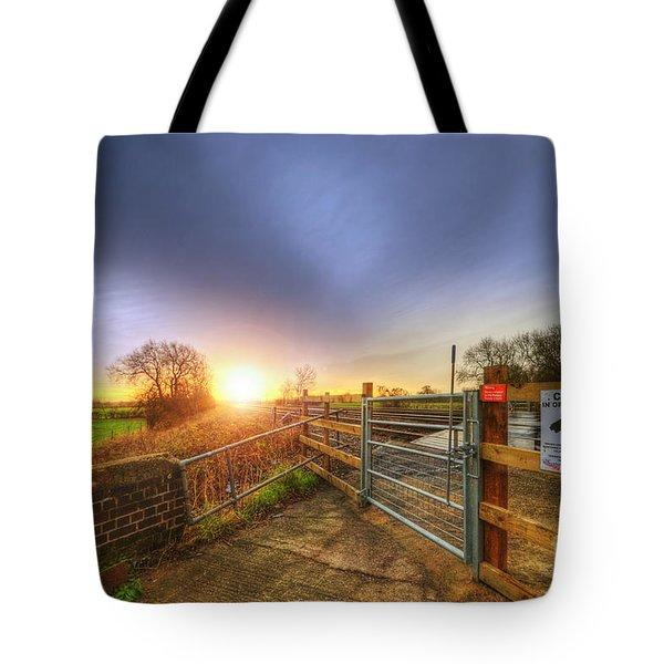 Stop Look Listen Tote Bag by Yhun Suarez