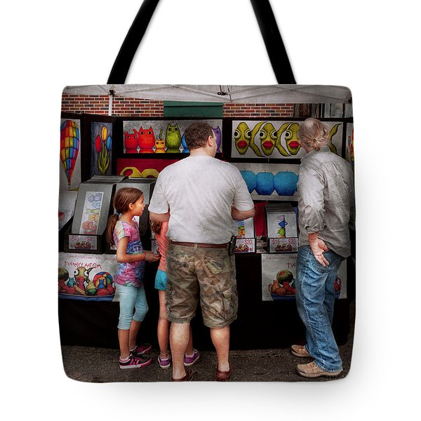 Store Front - Artist - Puppy Love  Tote Bag by Mike Savad