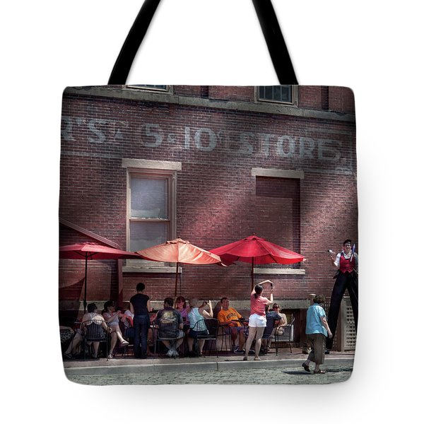 Storefront - Bastile Day In Frenchtown Tote Bag by Mike Savad