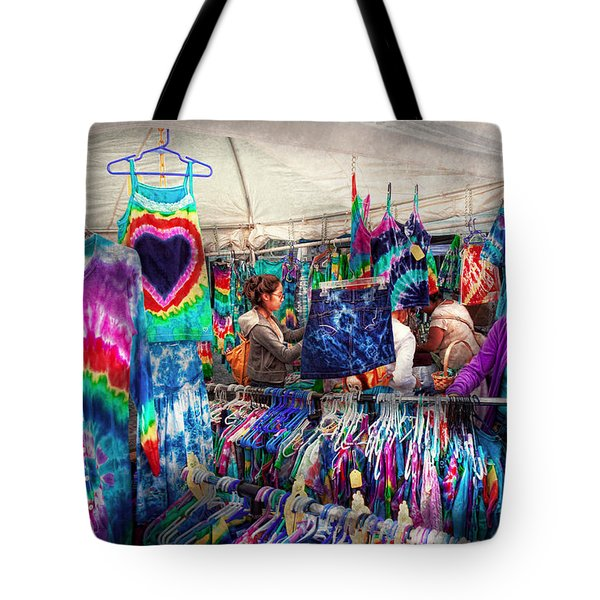 Storefront - Tie Dye Is Back  Tote Bag by Mike Savad