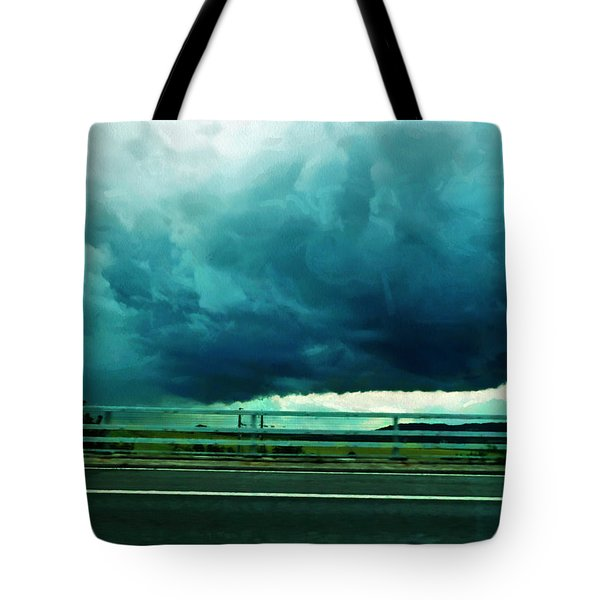 Tote Bag featuring the digital art Storm Approaching  by Steve Taylor