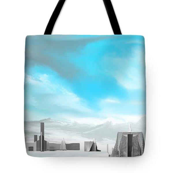 Storm Approachs Strange City Tote Bag by David Lane