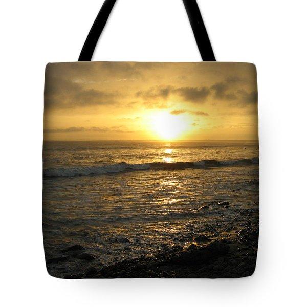 Storm At Sea Tote Bag by Bruce Carpenter