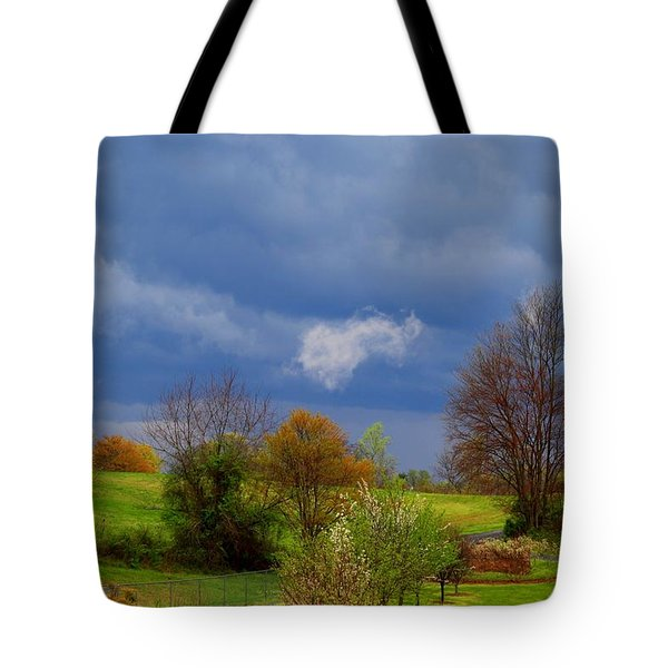 Tote Bag featuring the photograph Storm Cell by Kathryn Meyer