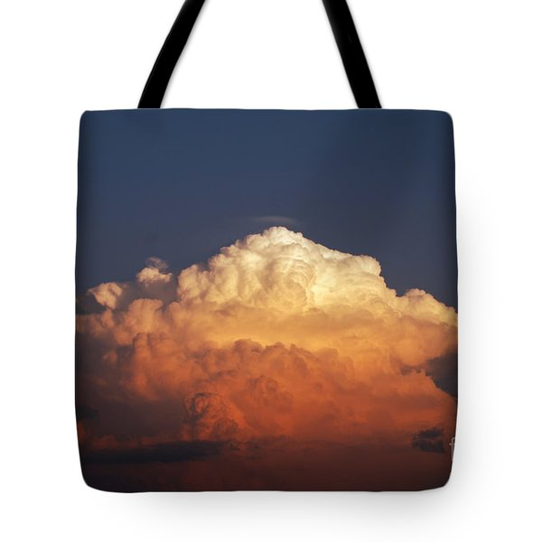 Tote Bag featuring the photograph Storm Clouds At Sunset by Mark Dodd
