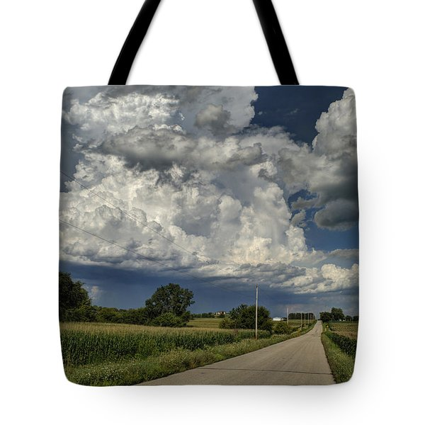 Storm Clouds In The Country An Hdr No. 2 Tote Bag by Janice Adomeit