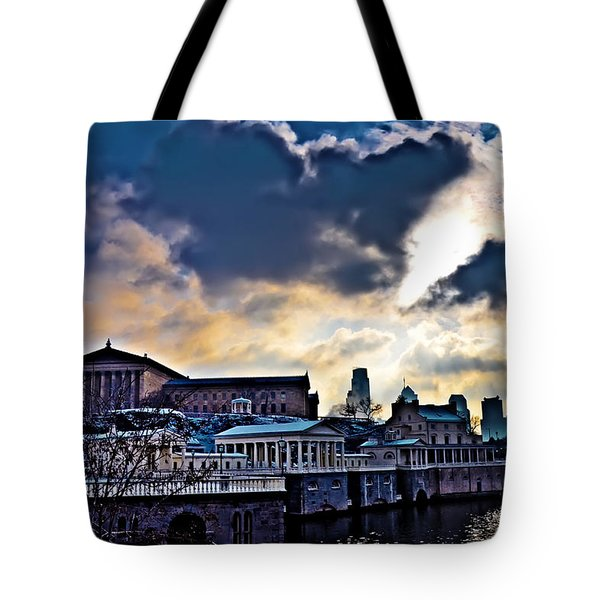 Storm Clouds Over Philadelphia Tote Bag by Bill Cannon