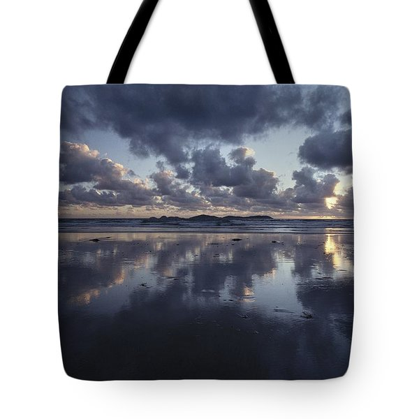 Storm Clouds Over Tidal Flat Tote Bag