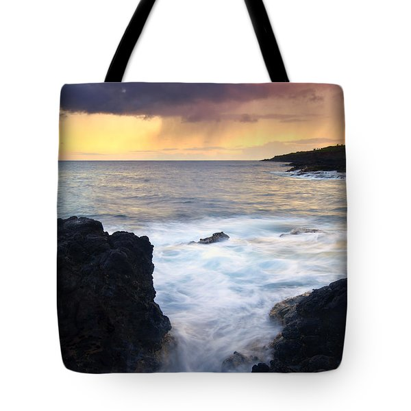Storm Fissure Tote Bag by Mike  Dawson