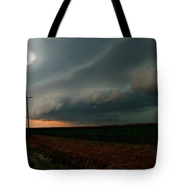 Tote Bag featuring the photograph Storm Front by Debbie Portwood