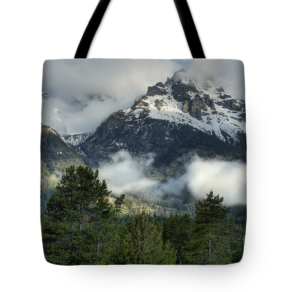 Storm  In The Tetons Tote Bag by Sandra Bronstein