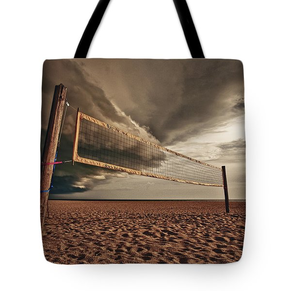 Volley Ball Net Tote Bag