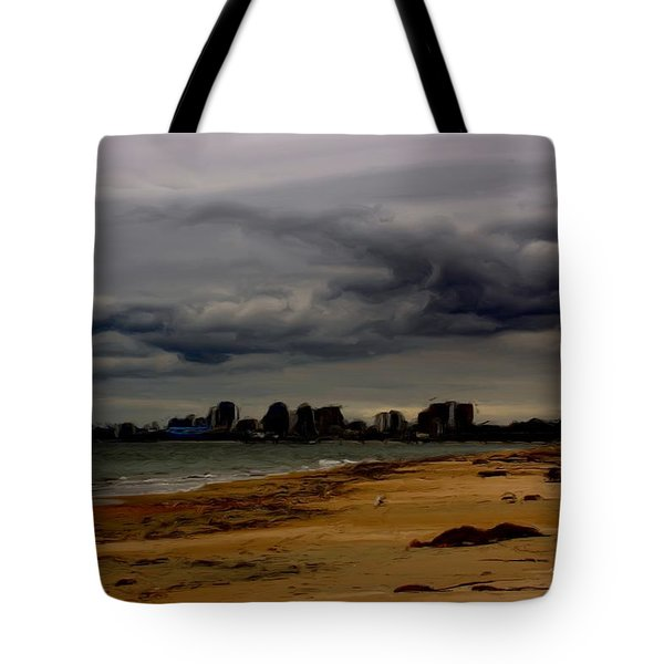 Storm Rolls In Tote Bag by Heidi Smith