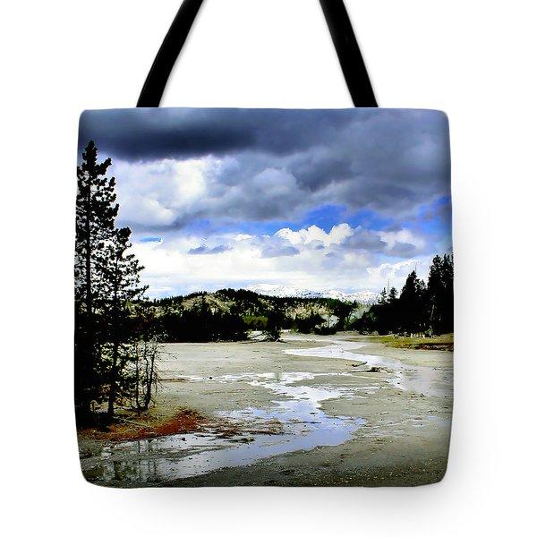 Stormclouds Over Norris Basin Tote Bag by Ellen Heaverlo