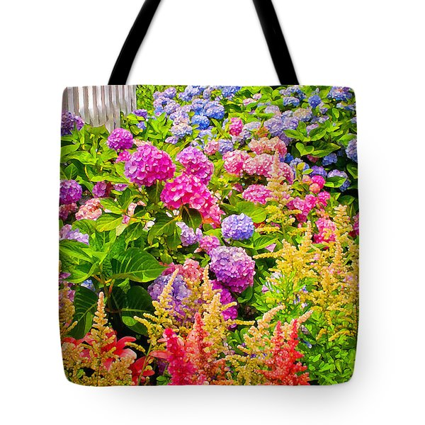 Tote Bag featuring the photograph Storming The Garden Gate by Jim Moore