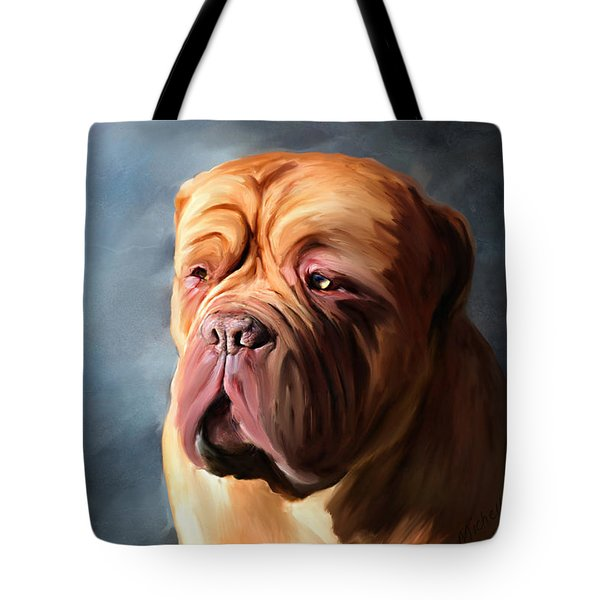 Stormy Dogue Tote Bag by Michelle Wrighton