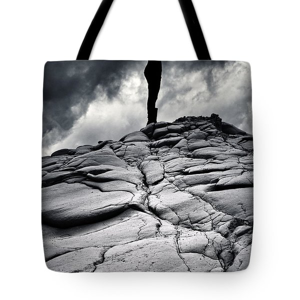 Stormy Silhouette Tote Bag by Stelios Kleanthous