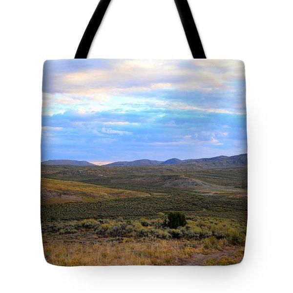 Stormy Wyoming Sunrise I Tote Bag