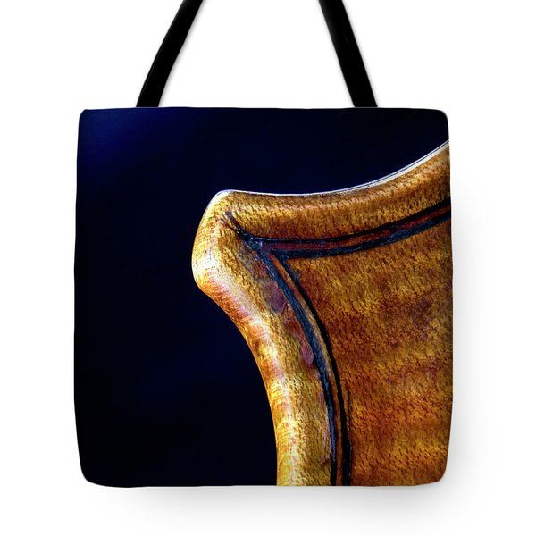 Tote Bag featuring the photograph Stradivarius Corner Closeup by Endre Balogh