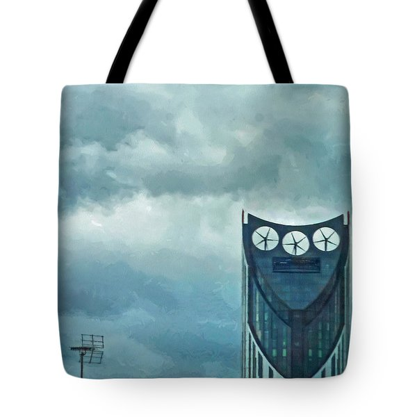 Strata Tower In London Tote Bag