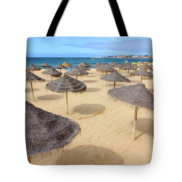 Straw Sunshades Tote Bag by Carlos Caetano