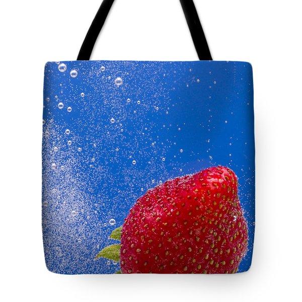 Strawberry Soda Dunk 4 Tote Bag by John Brueske