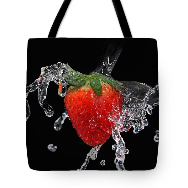 Strawberry-splash Tote Bag