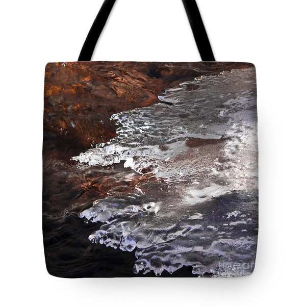 Stream Edge Ice Tote Bag