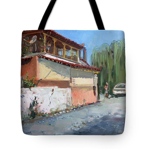 Street In A Greek Village Tote Bag