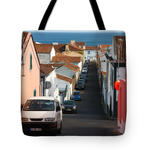 Street In Lagoa - Azores Tote Bag by Gaspar Avila