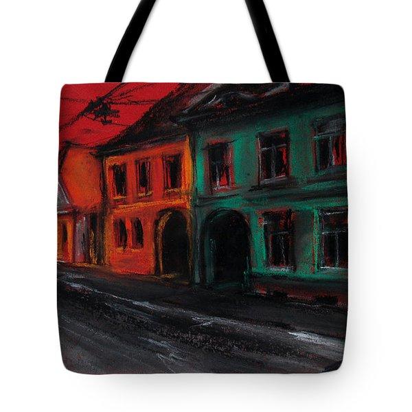 Street In Transylvania 1 Tote Bag by Mona Edulesco