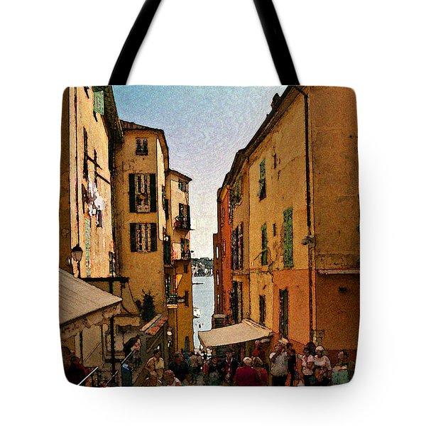 Street In Villefranche II Tote Bag