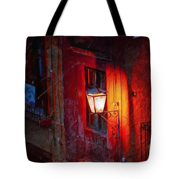 Street Light On Calle Quebrada Tote Bag
