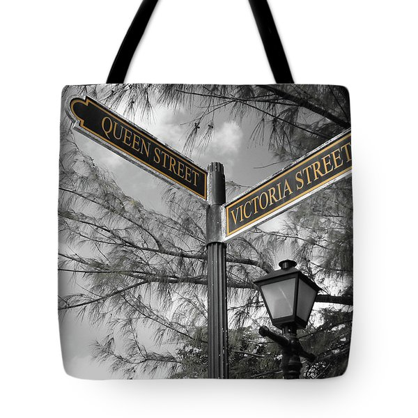Street Signs On Grand Turk Tote Bag